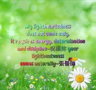 Light heartedness